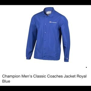 Champion Men's Classic Coaches Jacket Royal Blue